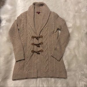 Merona cardigan toggle sweater sz Small